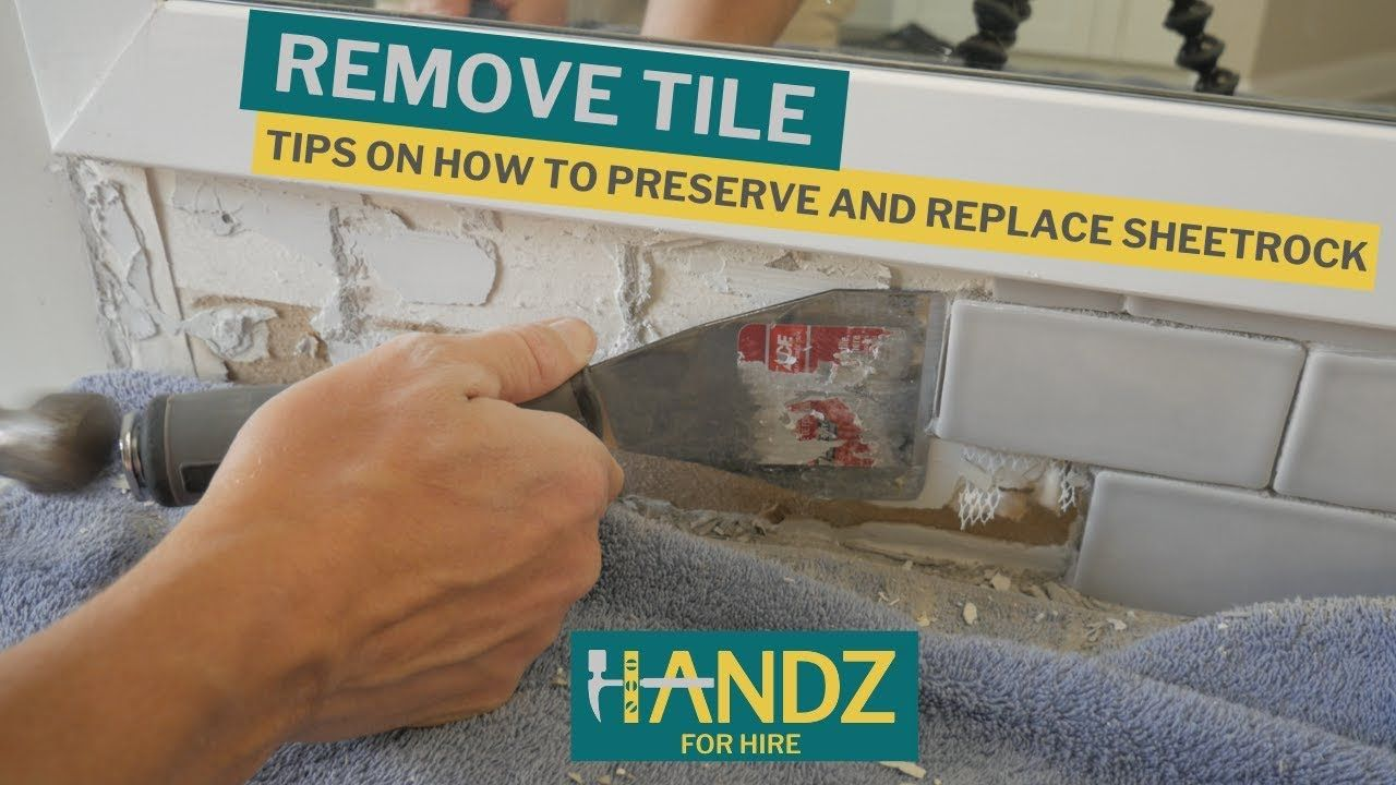 How to remove backsplash tile like a champ with images