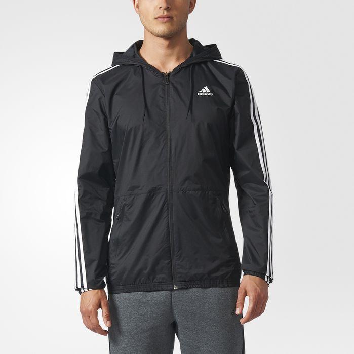 adidas Essentials 3-Stripes Wind Jacket - Black   adidas US