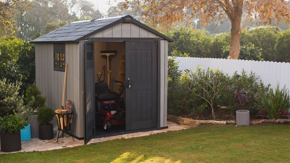 7 1 2 Ft X 9 Ft Oakland Paintable Resin Shed Shed Keter Sheds