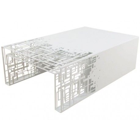 Tables Gigognes Design En Acier Blanc Cubical Par Coco Co Deco