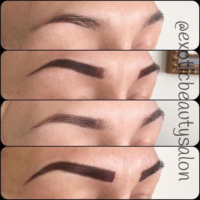 Permanent Makeup 1⃣Original eyebrows. 2⃣First session ...