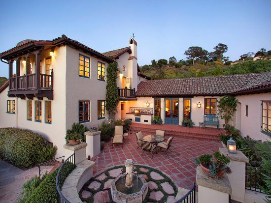 Designed By An Ice Of Noted California Spanish Colonial Architect George Washington Smith This Santa Barbara Estate Is Stunning Inside And Out