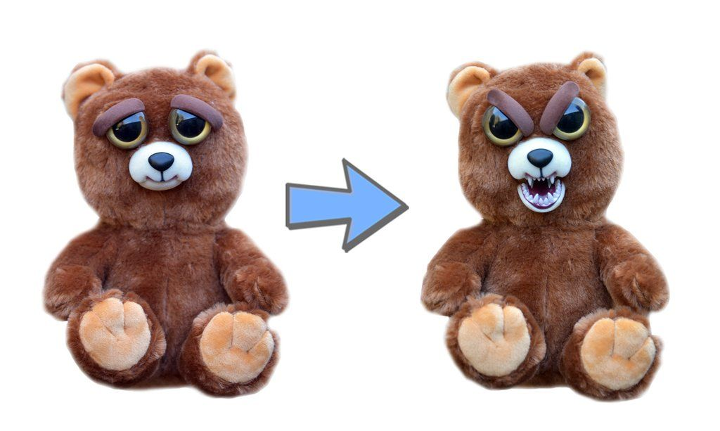 William Mark Feisty Pets Sir Growls A Lot Adorable Plush Stuffed Bear That Turns Feisty With A Squeeze 8 5 L Bear Toy Bear Plush Pets