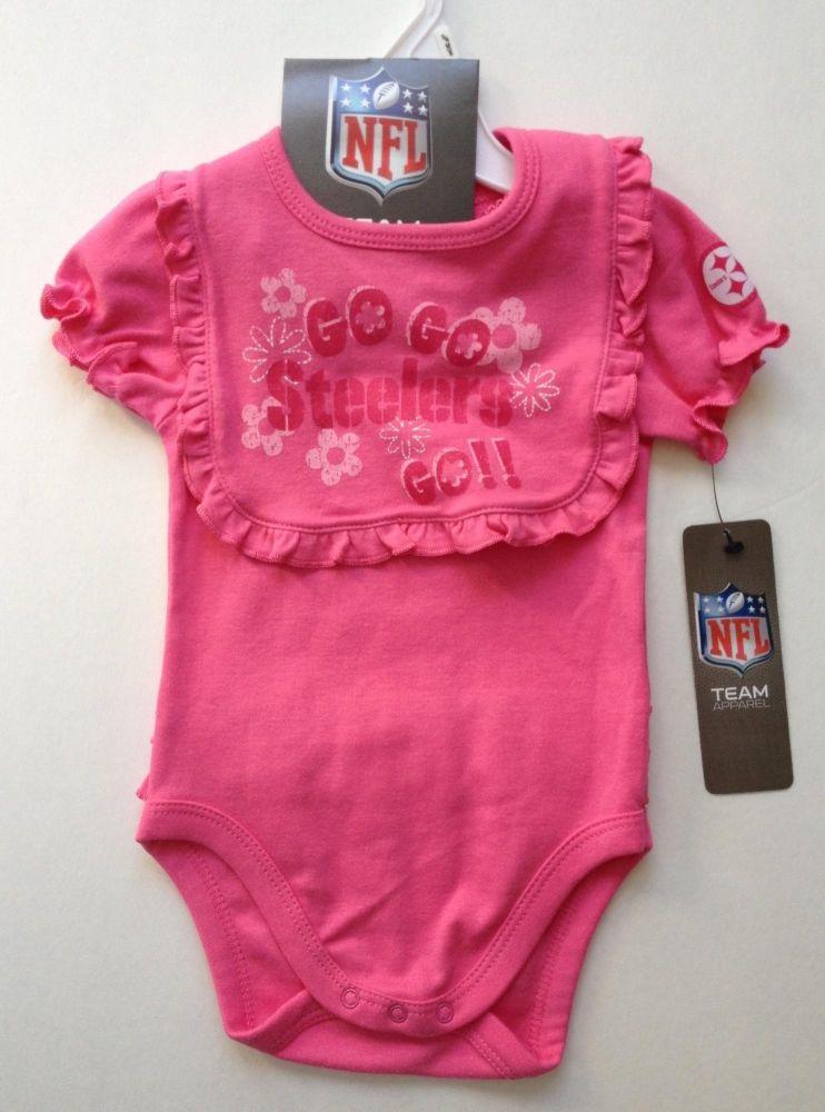 54a9fceac6058 Steelers Pink Ruffled Onesie & Bib Set $16.99 http://www.mommygear