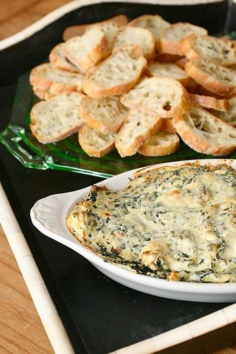 I love spinach artichoke dip, but hate large chunks of artichokes...this is a recipe is easy and I can adapt it to my taste.