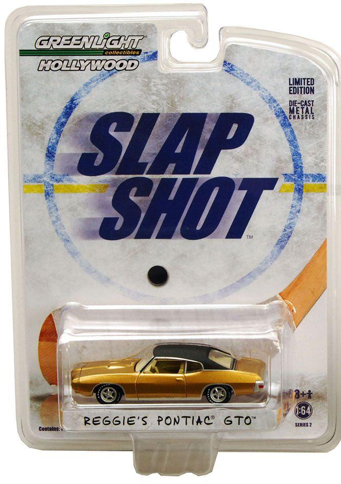 1:64 Greenlight Hollywood Series 2  *Slap Shot* Reggie's Pontiac GTO * NIB #Greenlight #Pontiac