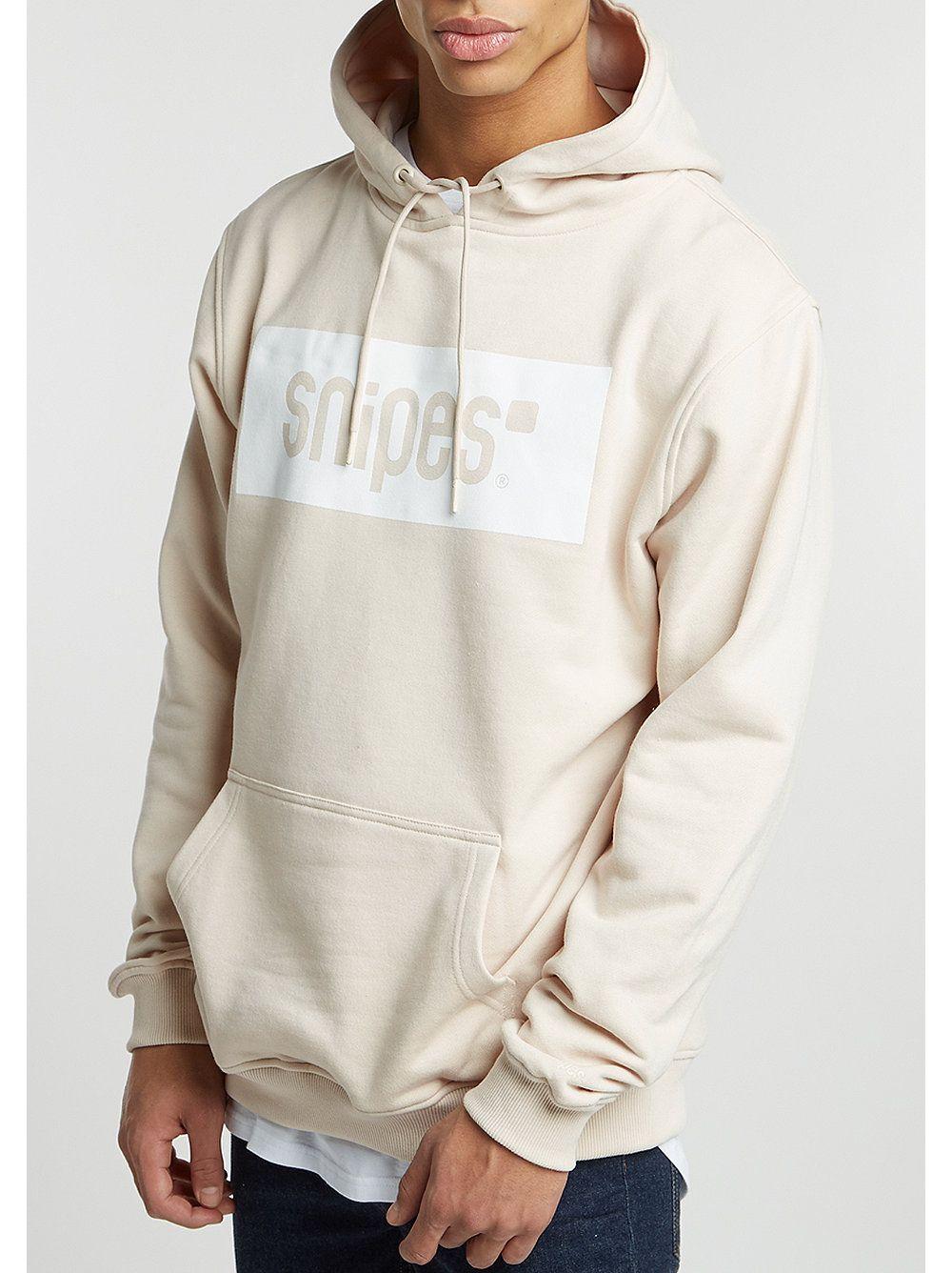 new concept 2e441 6bc45 SNIPES Hooded-Sweatshirt Box Logo sand/white   Tshirt ideas ...