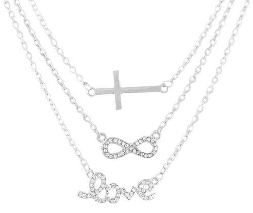 com religious necklace inspirational god possible amazon with cross wusuaned are gift infinity all things jewelry dp