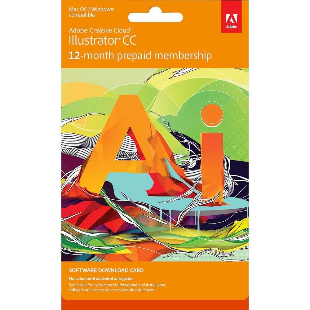 Adobe Illustrator Cc 1 Year Subscription In 2021 Illustration Creative Cloud Web Icons