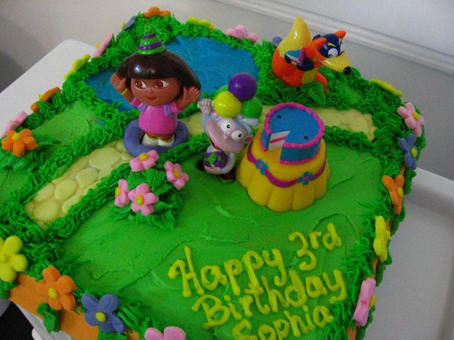 Birthday and Party Cakes Dora Birthday Cake 2010 Dora Party