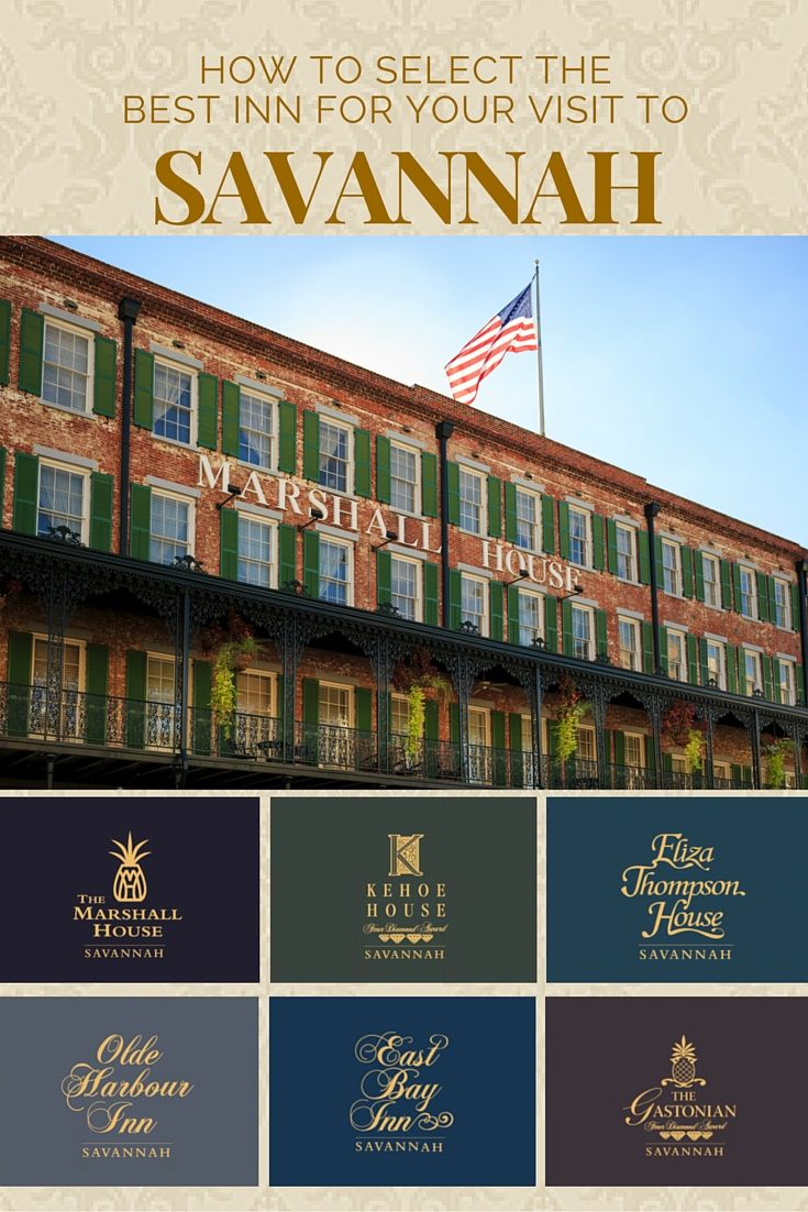 Pin by Historic Inns & Boutique Hotels of Savannah on