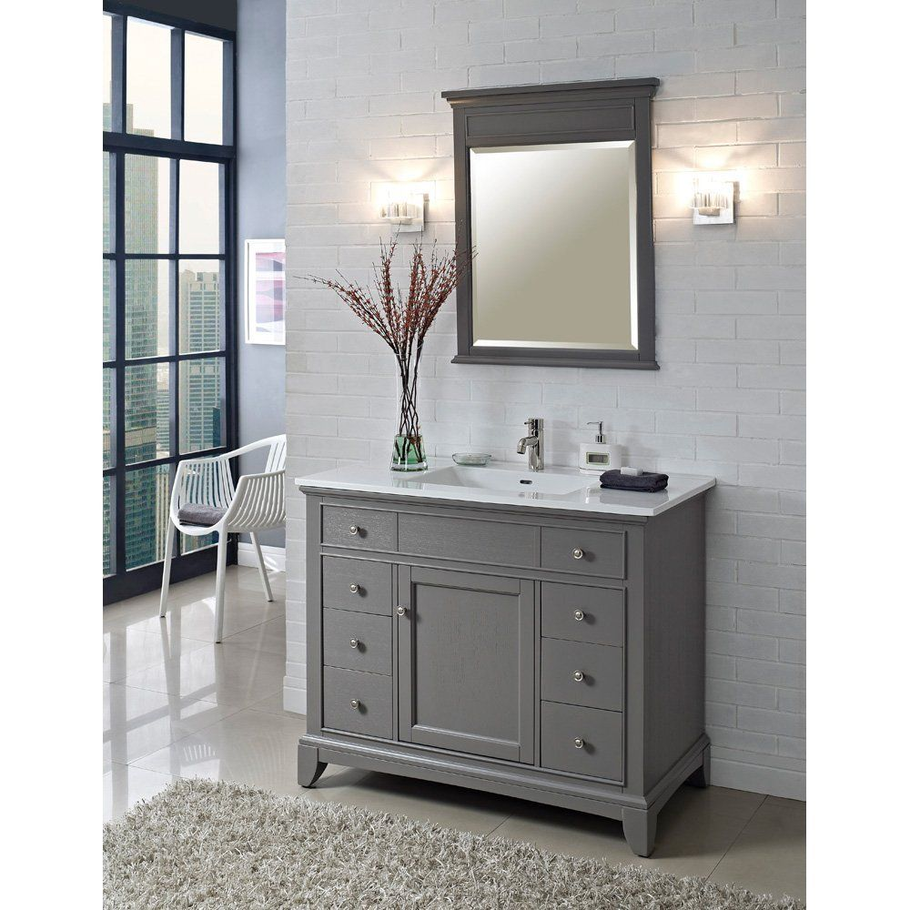 Fairmont designs 42 inch smithfield vanity medium gray - What is vanity in design this home ...
