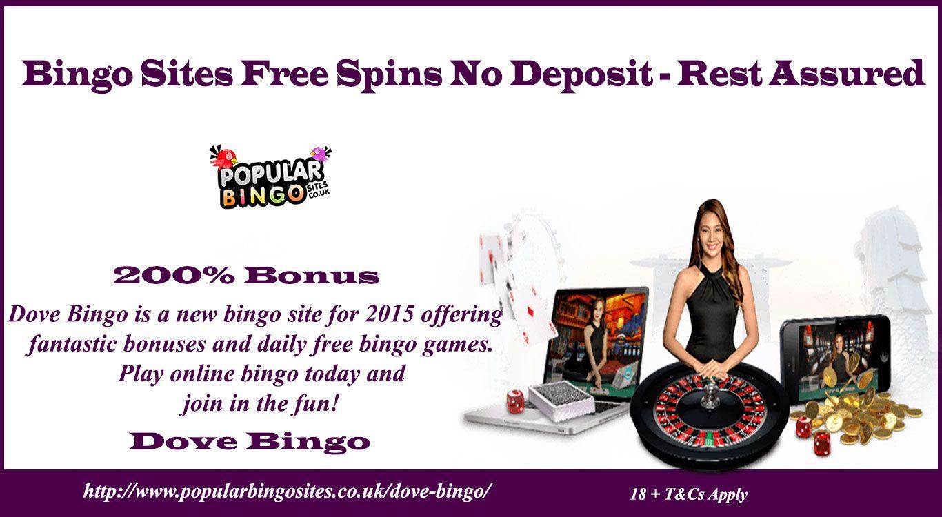 Bingo sites free spins no deposit rest assured bingo