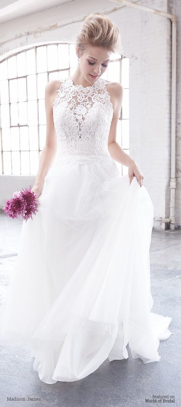 Sheer long sleeve wedding dresses  The racerback is given an extra dose of glam with sheer lace
