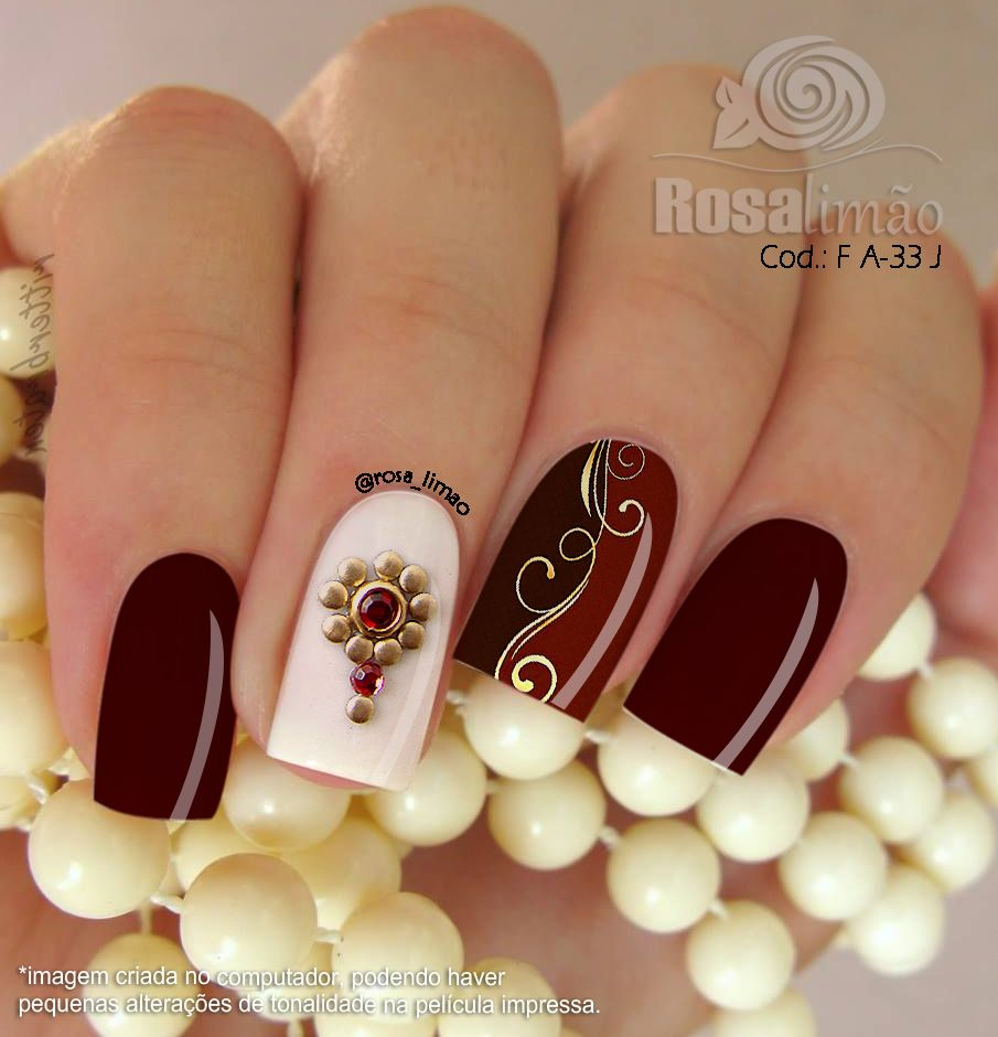 Pin by Rosa Bruscianelli Dewitz on nails | Pinterest | Maroon nails ...