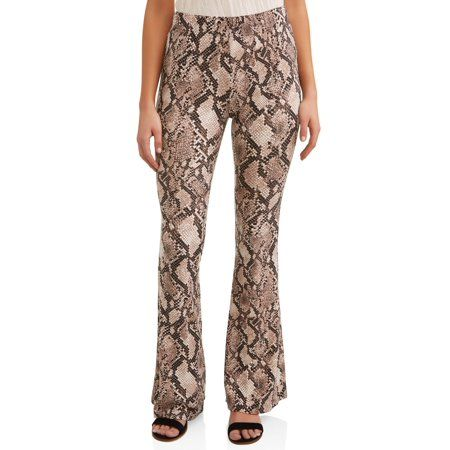 0560c7e46406 Juniors' Flared Yummy Knit Pants (Prints and Solids), Size: XXL, Black