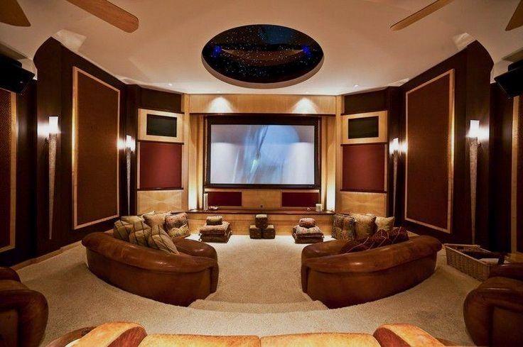 Media room with projector screen hapuna beach estate