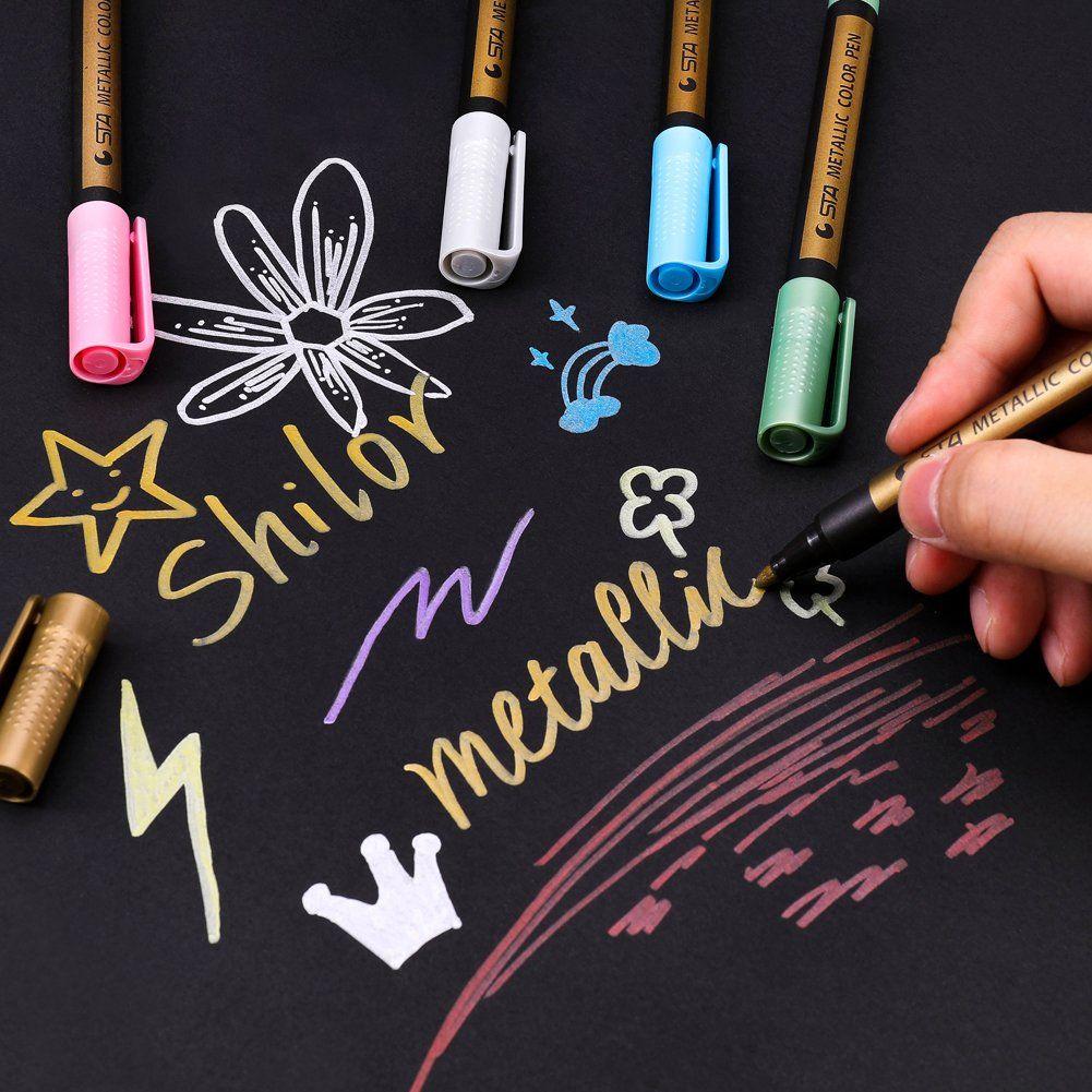 Sunshilor Metallic Markers Paints Pens Medium Tip Metallic