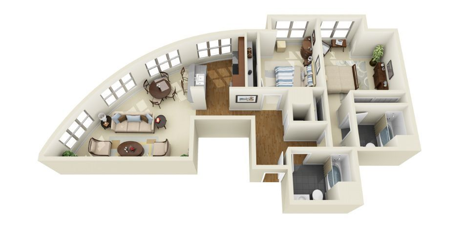 3d floor plans | photorealistic 3d floor plans for multi-family