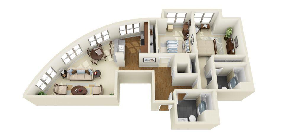3D Floor Plans Photorealistic 3D Floor Plans for Multi