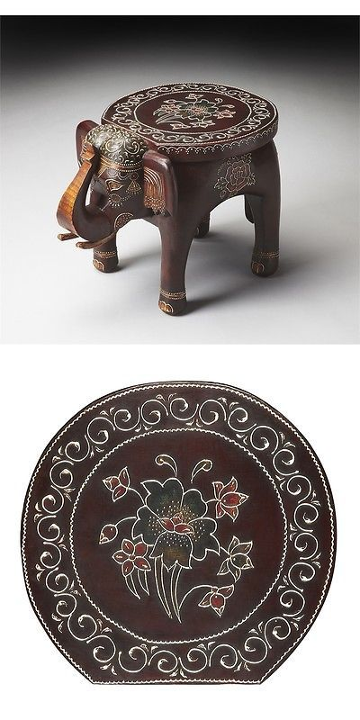 Other Handcrafted Home Accents 160657: Butler Botswana Hand Painted Accent  Table, Artifacts  U003e