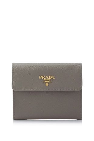 38ce63178c721e Prada Saffiano Metal Short Flap Wallet | Carry Me | Purse wallet ...