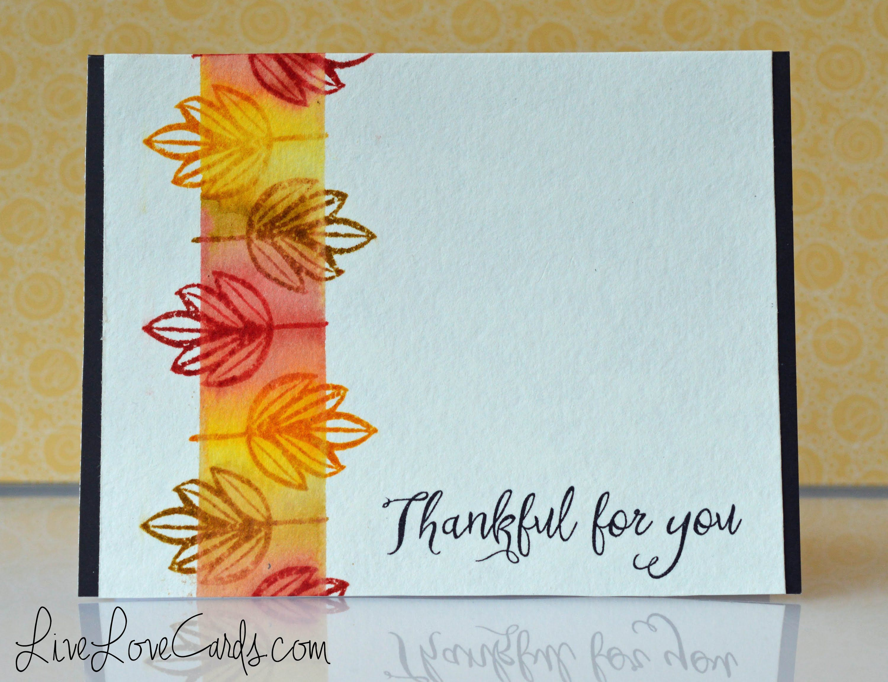 cardmaking video tutorial: Easy Fall Card with Distress Inks ... luv ...