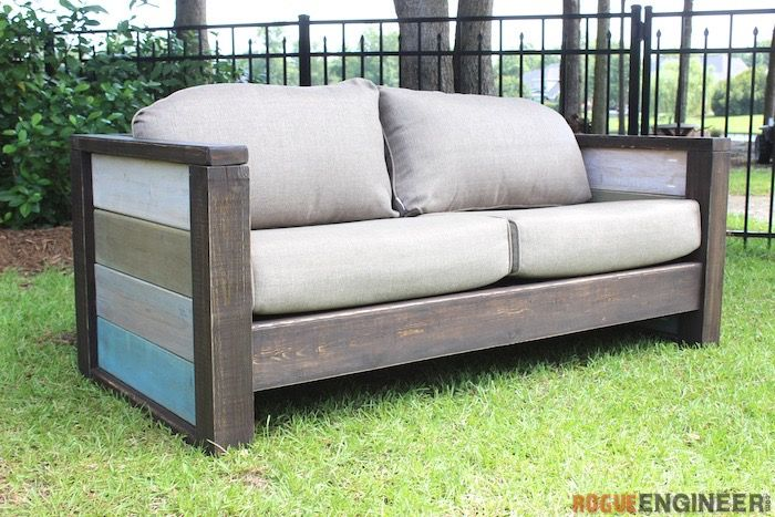 Free Plans } Outdoor Wood Plank Loveseat Part 48