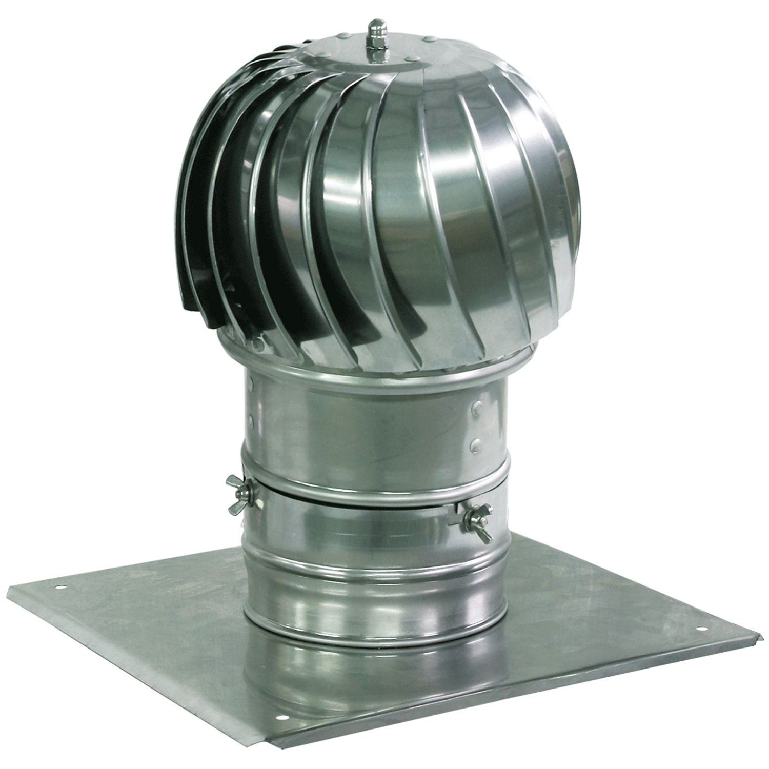 Spinning Chimney Cowl Aluminum Flue Ventilation With Extra Roof Plate 130mm Chimney Cowls Roof Cap Roof