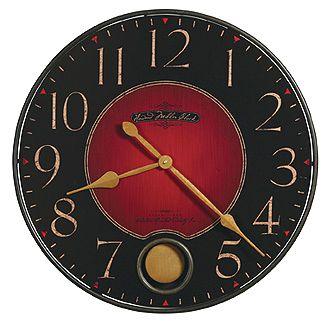 Howard Miller Harmon Wall Clock Red Wall Clock Rustic Wall Clocks Gallery Wall Clock