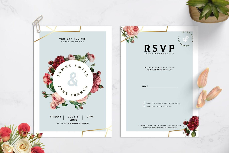 Pin On Wedding Invitation Card Templates