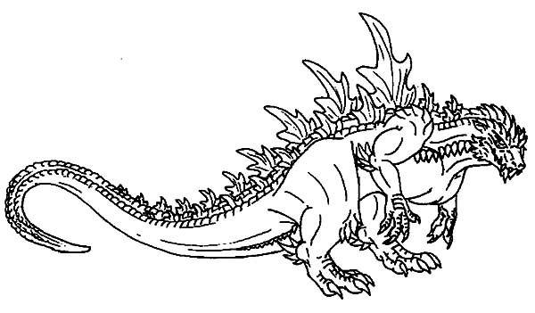 Pin on LineArt: Godzilla