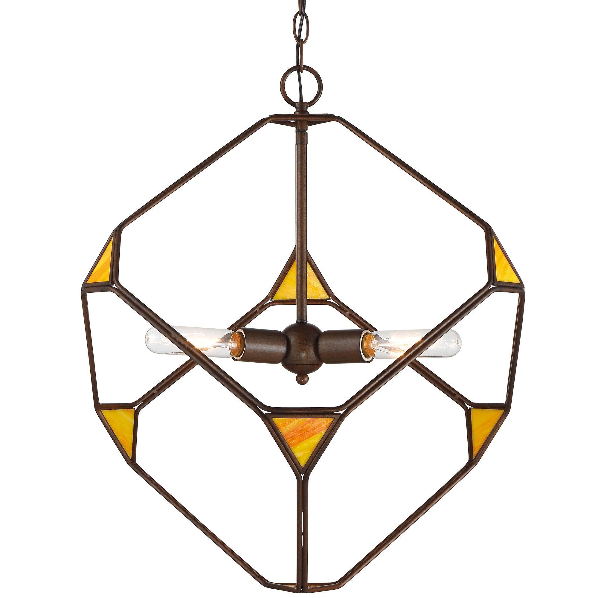 Cubert cube pendant rustic bronze ceiling lights x