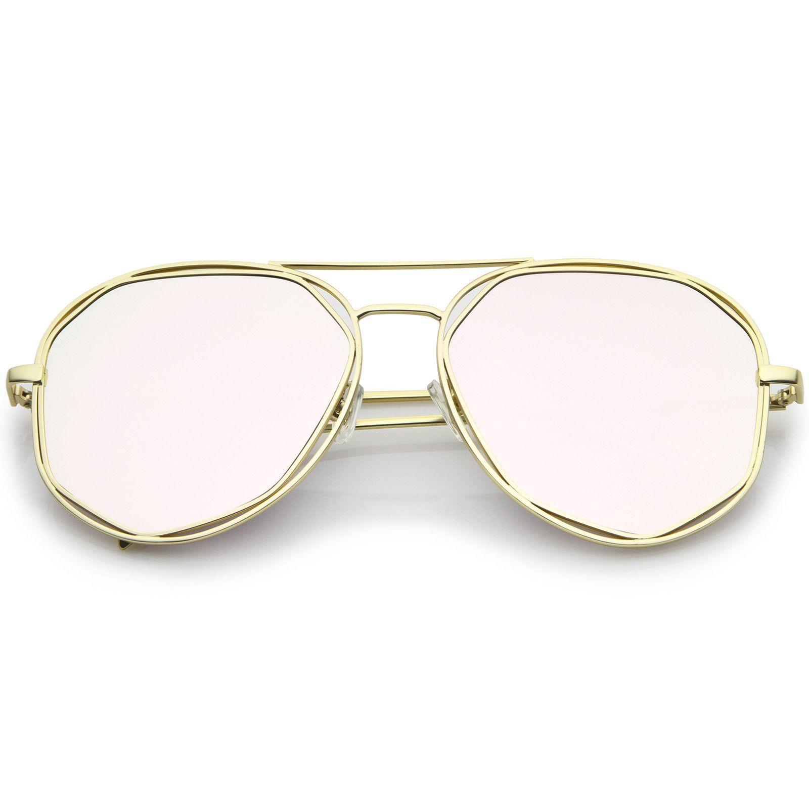 468de1567b3 Geometric Hexagonal Metal Frame Colored Mirror Flat Lens Aviator Sunglasses  60mm  sunglass  frame  sunglasses  purple  mirrored  clear  oversized   cateye ...