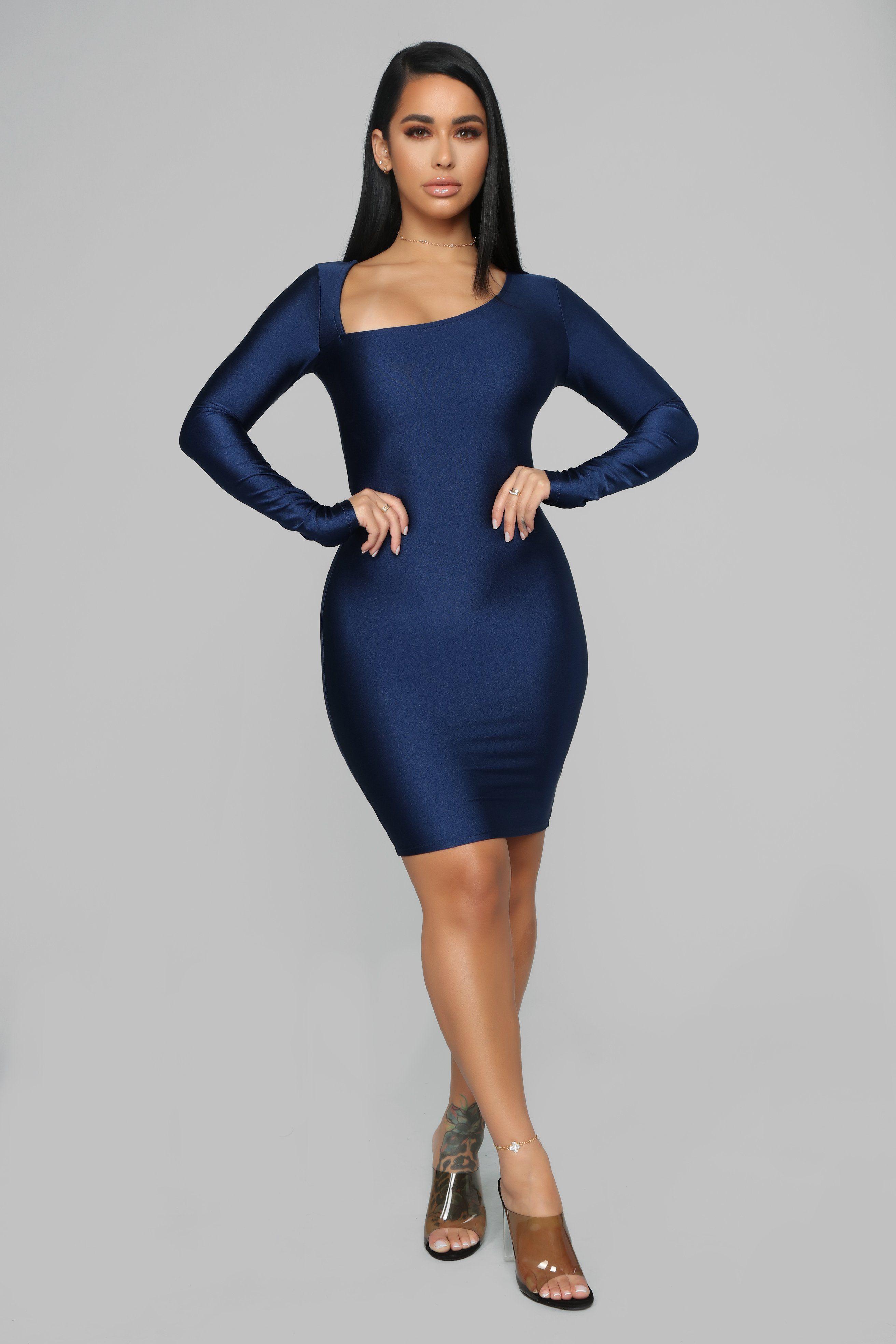 Get Me Bodied Mini Dress Navy Dresses, Mini dress