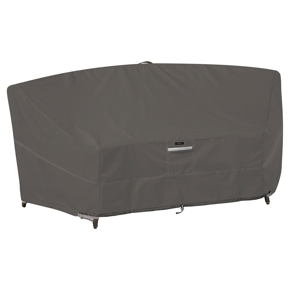 Ravenna Patio Curved Modular Sectional Sofa Cover Dark Taupe Clic Accessories