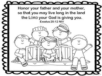 Honor Your Father Coloring Page Sunday School Coloring Pages