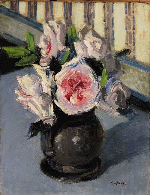 White Roses, Grace Henry. (1868 - 1953)