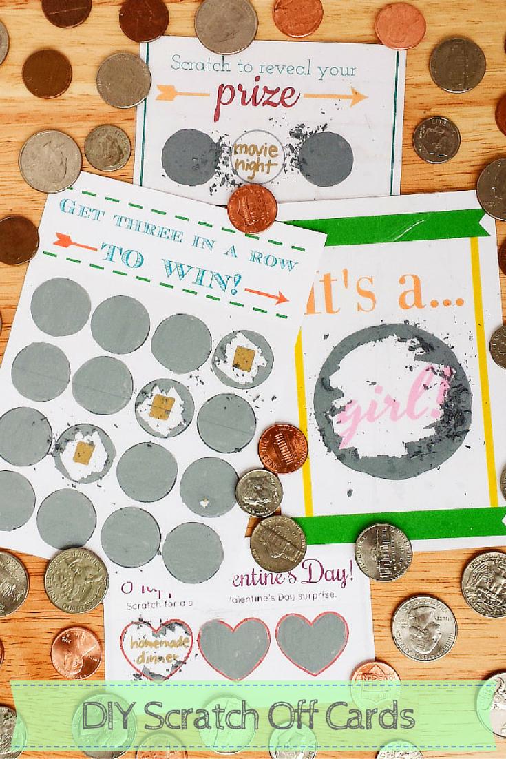 Scratch Off Cards Make Your Own Diy Crafts Pinterest