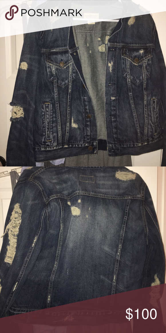 Polo Denim Jacket my mom bought it for me and it's too big Jackets & Coats Jean Jackets