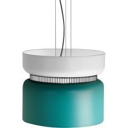 B.Lux Aspen 40 Pendelleuchte, weißer Schirm oben, türkis B.LuxB.Lux unten   – Products