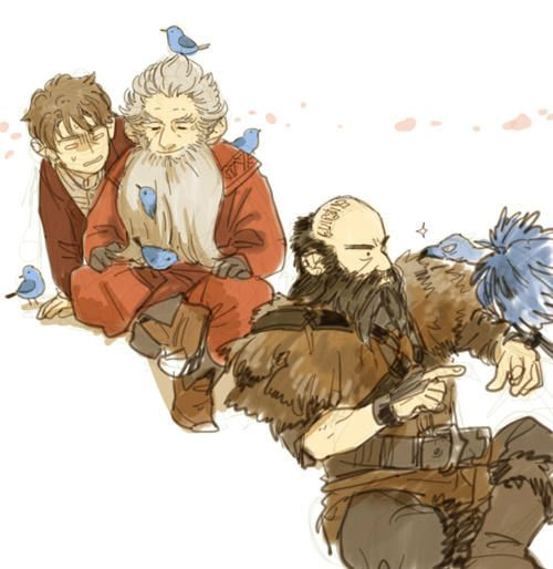 The Hobbit - Bilbo, Balin and Dwalin