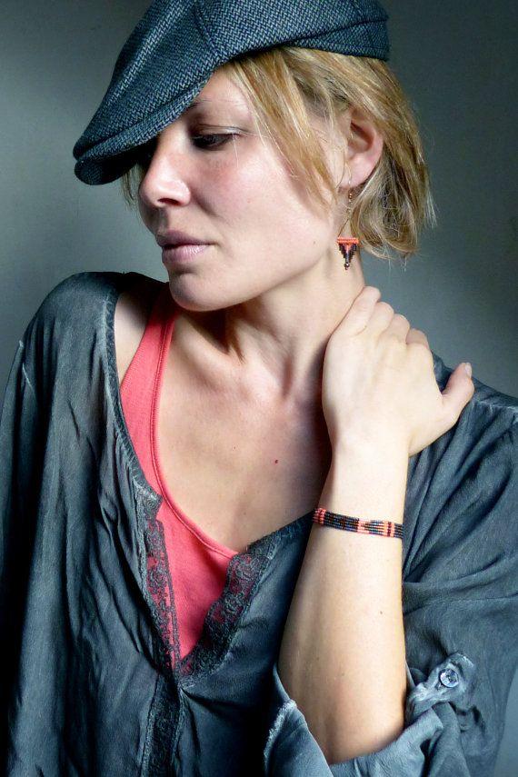belle qualité acheter bien fabrication habile Micro macrame and miyuki delicas, woven graphic bracelet ...