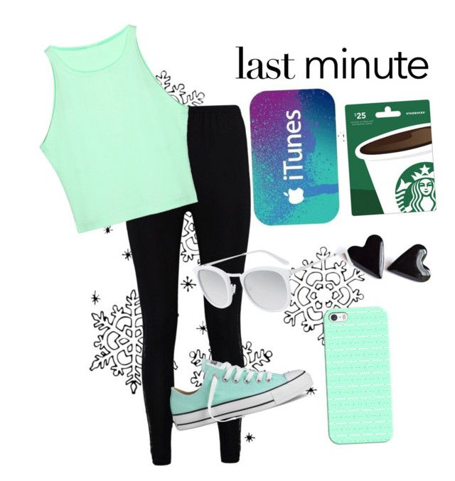 """""""Last minute"""" by alexispacheco ❤ liked on Polyvore featuring Boohoo, Casetify, Converse and Smoke x Mirrors"""
