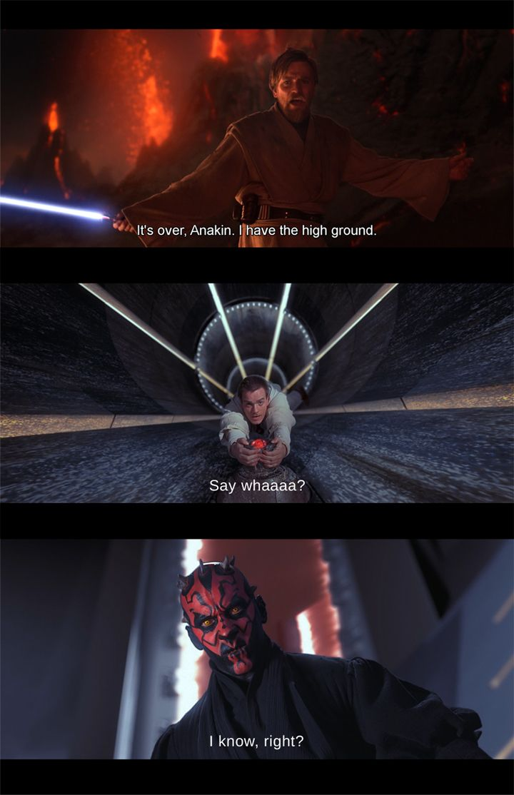Maybe He Meant Moral High Ground Star Wars Memes Movie Posters Star Wars