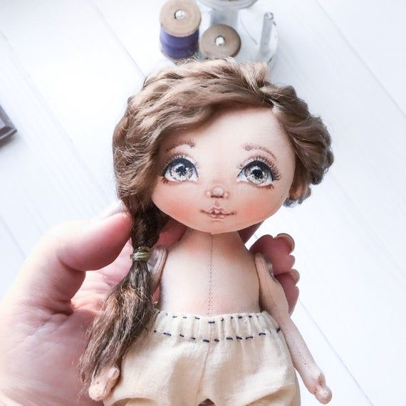 Face painting. Doll face drawing tutorial in PDF. How to draw a doll face. Making dolls. Textile doll #dollfacepainting