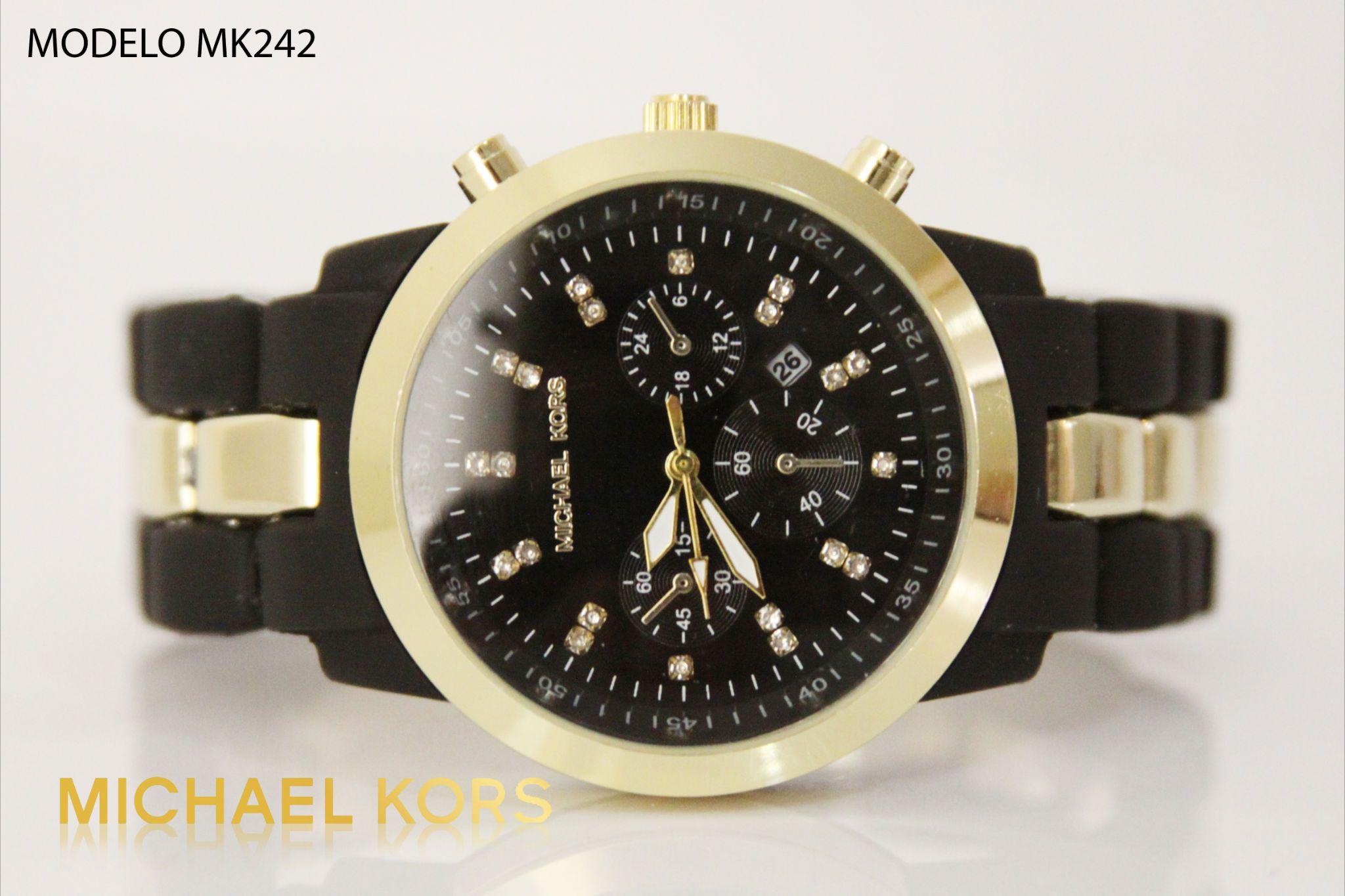 7263db82c87b Reloj Michael kors dama negro dorado