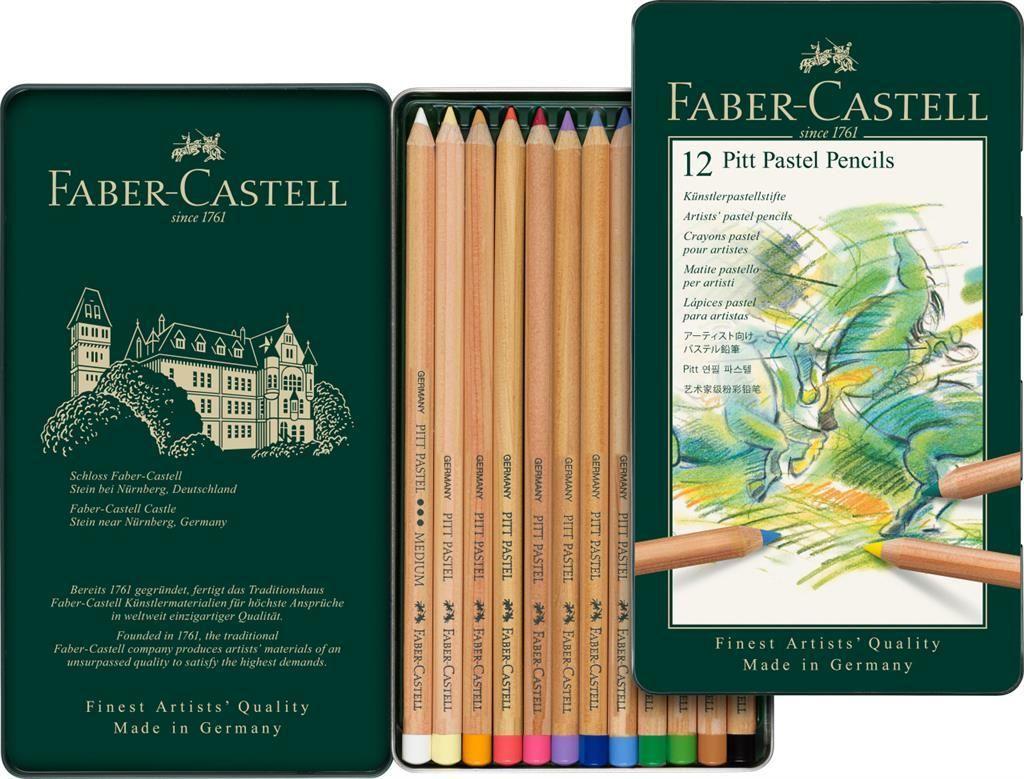 FABER-CASTELL USA 112978 PITT CHARCOAL TIN SET OF 24