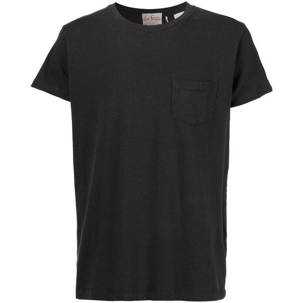 Levi's Vintage Clothing chest pocket T-shirt (168.530 COP) ❤ liked on Polyvore featuring men's fashion, men's clothing, men's shirts, men's t-shirts, black, mens cotton t shirts and mens cotton shirts