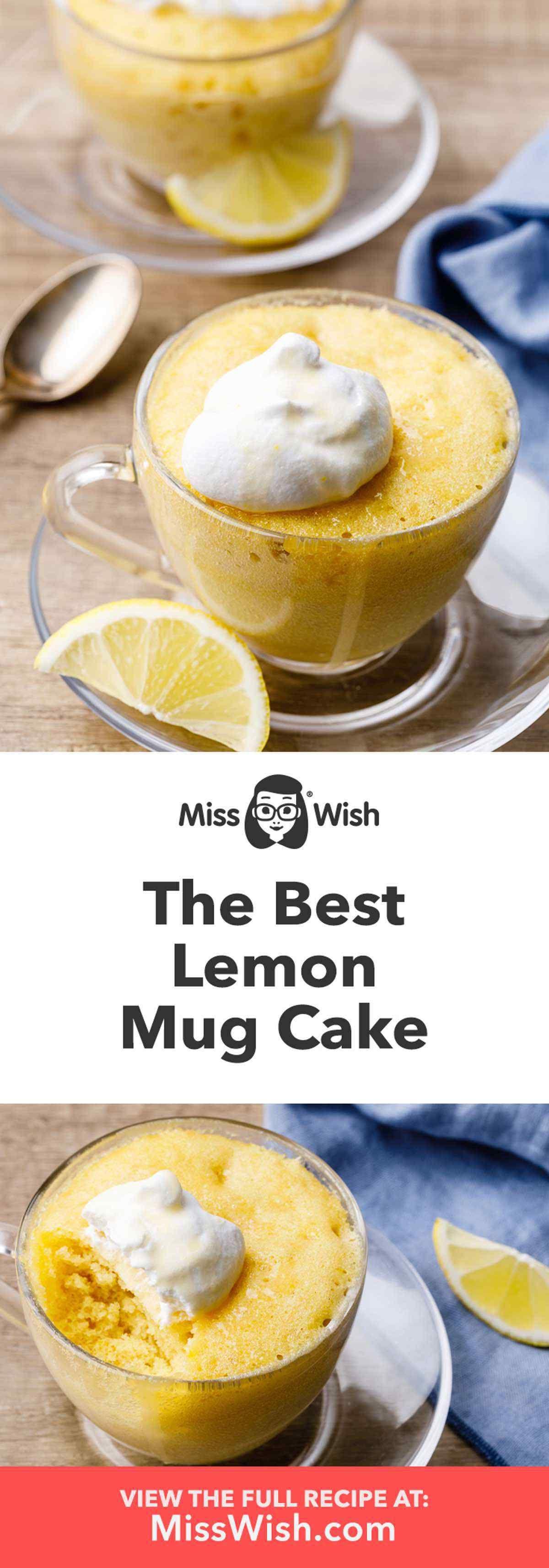How to Make the Best Homemade Lemon Mug Cake - Miss Wish